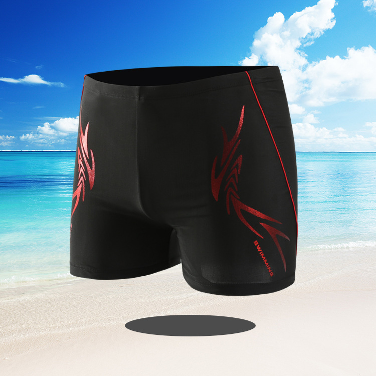 Men Swimwear Swimming Trunks Plus-sized Boxer Fashion Dyed Swimming Suit Adult Quick-Dry Large Size Swimming Trunks 71706