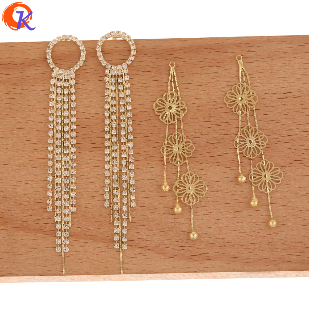 Cordial Design 50Pcs Jewelry Accessories/CZ Earring Findings/Claw Chain/Flower Shape/Hand Made/Connectors For Earring/DIY Making