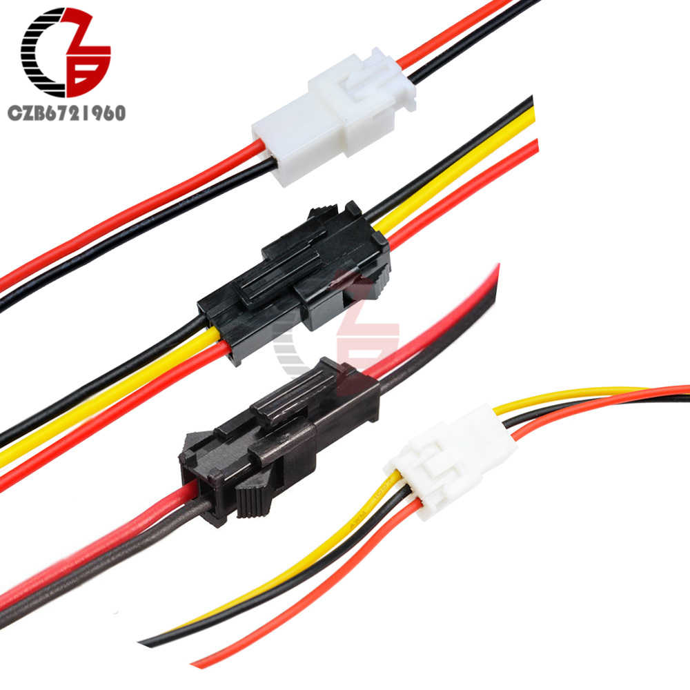 10Pcs JST SM XH 2.54mm 3mm 2Pin 3Pin Pin Pitch Connector Plug Wire Cable Socket 10cm 20cm 30cm AWG Battery Charging Cable