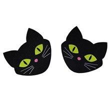 使い捨て自己粘着乳スパンコール 50 pairs (100 個) 発光猫胸の花びらステッカー乳首カバー目に見えないブラジャーパッド貼り付けサイト