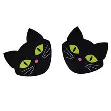 Disposable Self Adhesive Breast Pasties 50Pairs(100Pcs)Luminous Cat Breast Petals Stickers Nipple Cover Invisible Bra Pad Pastie