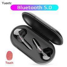 TWS Bluetooth Earphone Bluetooth 5.0 Wireless Headphone with Microphone Touch Control Headset Stereo Earbuds with Charging Case rockspace tws touch control headset hifi stereo earbuds wireless earphone bluetooth portable with microphone earphone