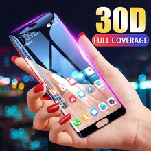 30D Full Cover Tempered Glass on For Huawei P20 P30 Lite Pro Screen Protector Protective huawei P10 P9 Film