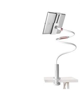 Image 5 - Настольный телефон, подставка для планшета 130 см, держатель для планшета, регулируемое крепление для планшета 4,0 10,6 дюймов, кровать для планшета, ПК, подставка, металлическая поддержка