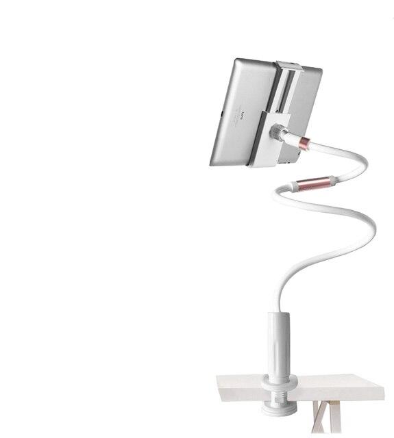 Telefon biurkowy stojak na Tablet 130cm uchwyt na tablet regulowany uchwyt na Tablet 4.0 do 10.6 cal łóżko stojak pod pc lub tableta metalowy wspornik