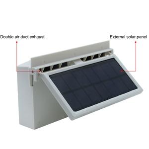 Image 4 - Car Solar Powered Exhaust Fan Auto Ventilation Fan Eco friendly Dual Mode Power Supply High Power Car Gills Cooler Portable