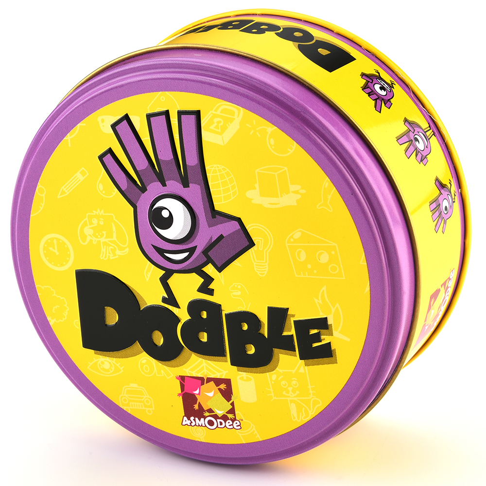 Dobble Spot It Toy Iron Box 55 Cards Sport Fun Family Animals Jr Hip Kids Board Game Gift Holidays Camping 123 Tin Gift Box 5