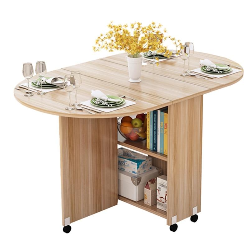 Table A Manger Mobile Pliante Avec Roue Multidirectionnelle Table