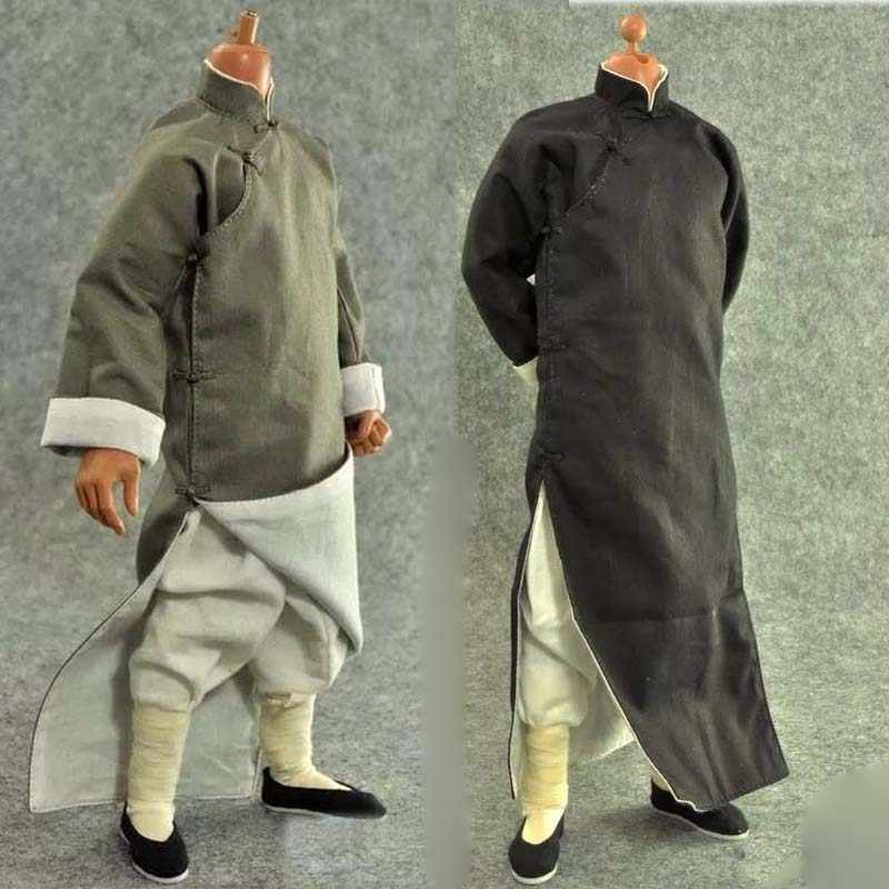 1//6 Scale Chinese-style Kung Fu Uniform with Socks /& Shoes for 12in