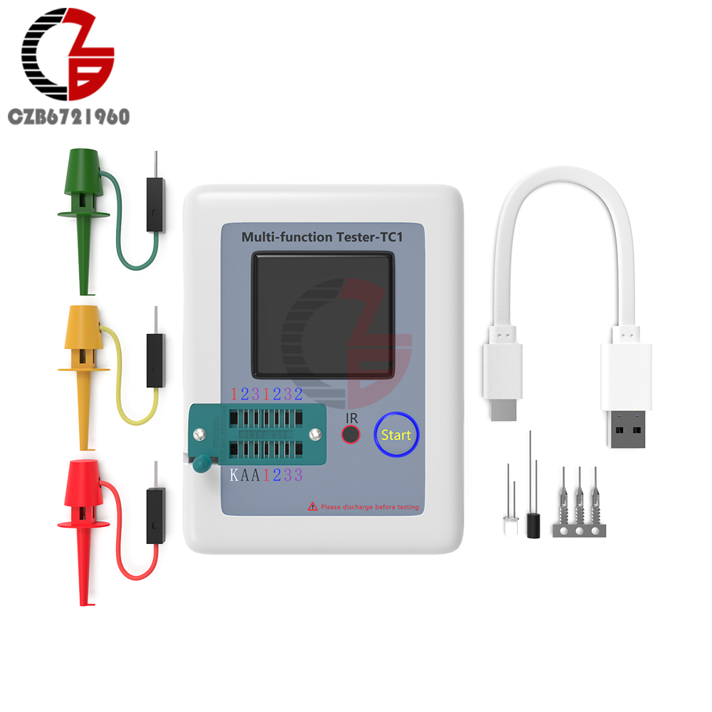 LCR-TC1 Transistor Tester TC1 TFT Diode Triode Capacitance Resistor Meter LCR-T6 TC1 NPN PNP MOSFET