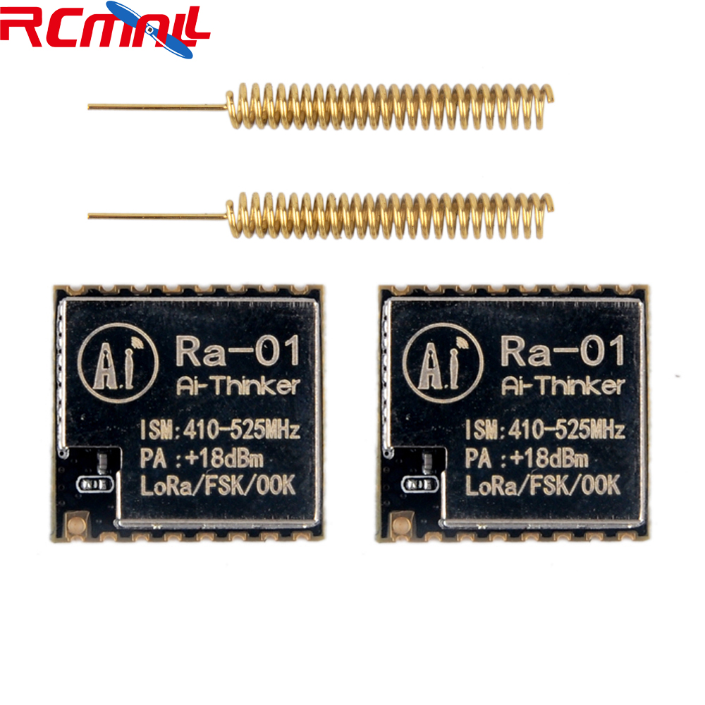2pcs/lot LoRa-01 SX1278 LoRa Module 433Mhz Spread Spectrum Wireless Transmission Ra01 V1.0 With Antenna For Smart Home FZ2801