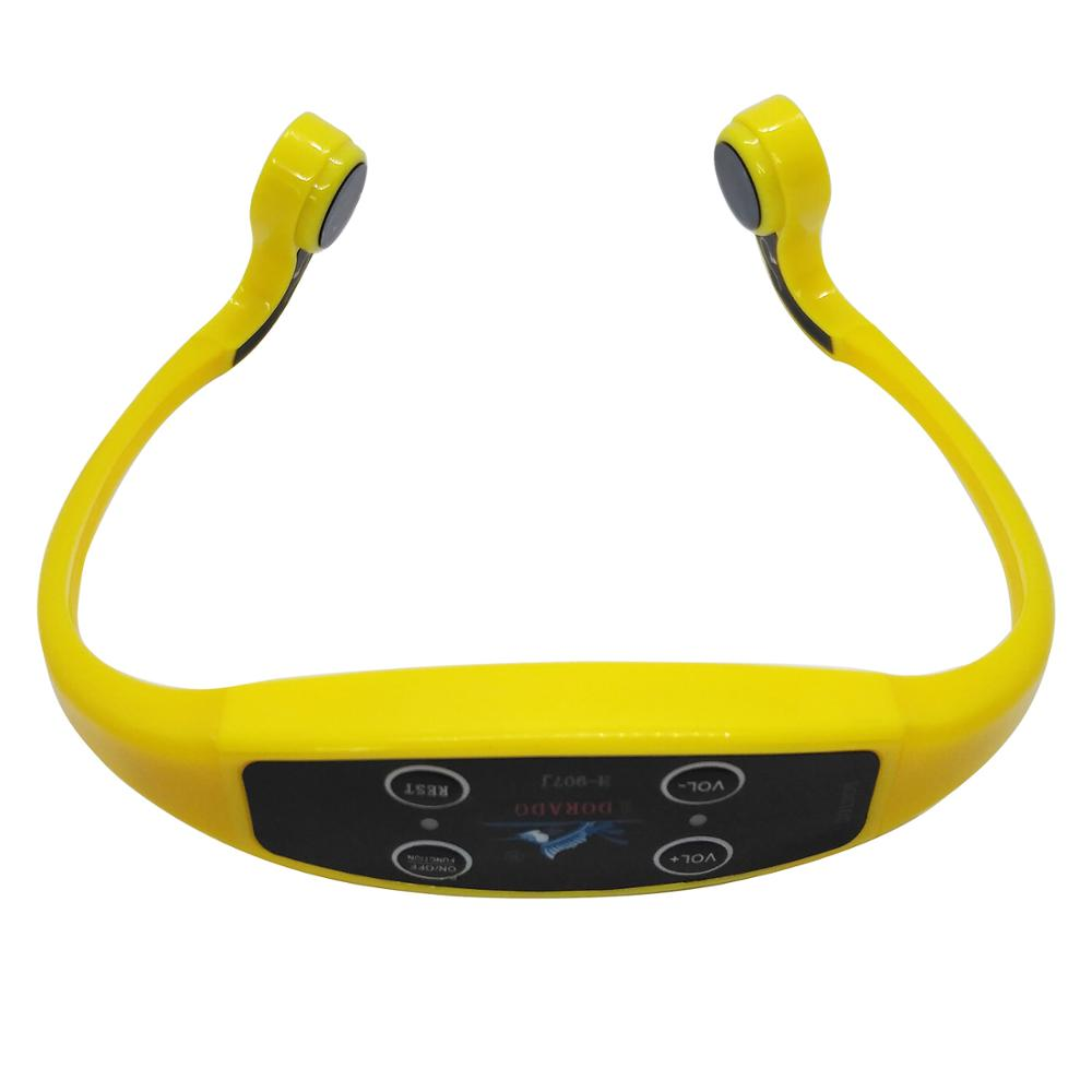 Wireless Transmitting Swimming System Waterproof Bone Conduction Receiver Headset W/ Magnetic Charging For Underwater Act H907J