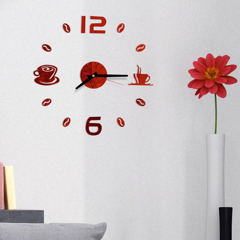 Scopri tutti gli orologi da parete moderni realizzati artigianalmente da arti e mestieri. 3d Specchio Orologio Da Parete Design Moderno Orologio Da Parete Al Quarzo Auto Adesivo Muto Moderno Acrilico Di Arte Analogico Cucina Fai Da Te Tazze Di Caffe Decor Wall Clocks Aliexpress