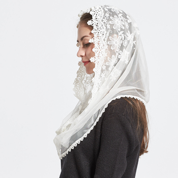 1PC New Fashion Female Ladies veil Tassel Shawls And Scarves Autumn Catholic Mantilla church Women