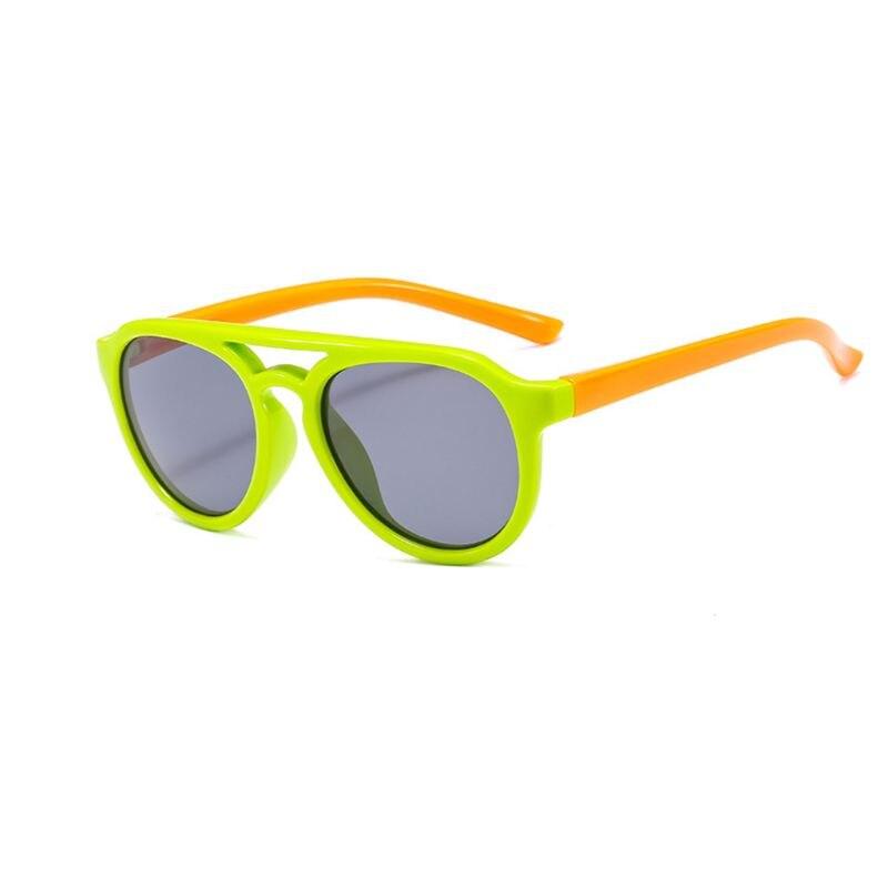 Детские солнечные очки мальчикам и девочкам, силиконовые очки солнечные очки тёмные очки для От 4 до 12 лет Детская R9CF - Цвет линз: 3