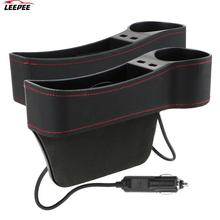 Box Storage-Box Cups-Holder Seat Car-Accessories Gap-Slit Phone-Bottle Dual-Usb-Charger