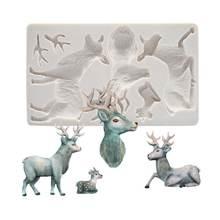 Рождественский олень лося силиконовая форма шоколадный торт