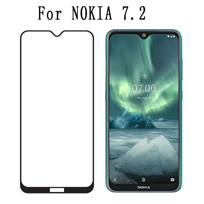 10PCS Full Glue <font><b>Screen</b></font> <font><b>Protector</b></font> Tempered Glass Film For <font><b>Nokia</b></font> <font><b>7.2</b></font> 6.2 Full Coverage <font><b>Screen</b></font> Film For <font><b>Nokia</b></font> 4.2 3.2 2.2 9H Glass image