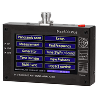 4.3 inch Touch screen Max600 Plus HF VHF UHF Antenna Analyzer 0.1 600MHz SWR Meter 1.0 1999 5V/1.5A For Radio