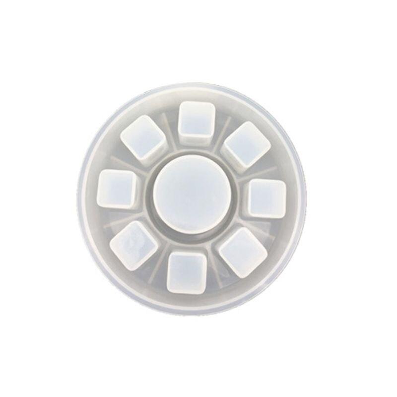 Купить с кэшбэком DIY Crystal Epoxy Round Square Plaid Lipstick Storage Box Making Silicone Mold