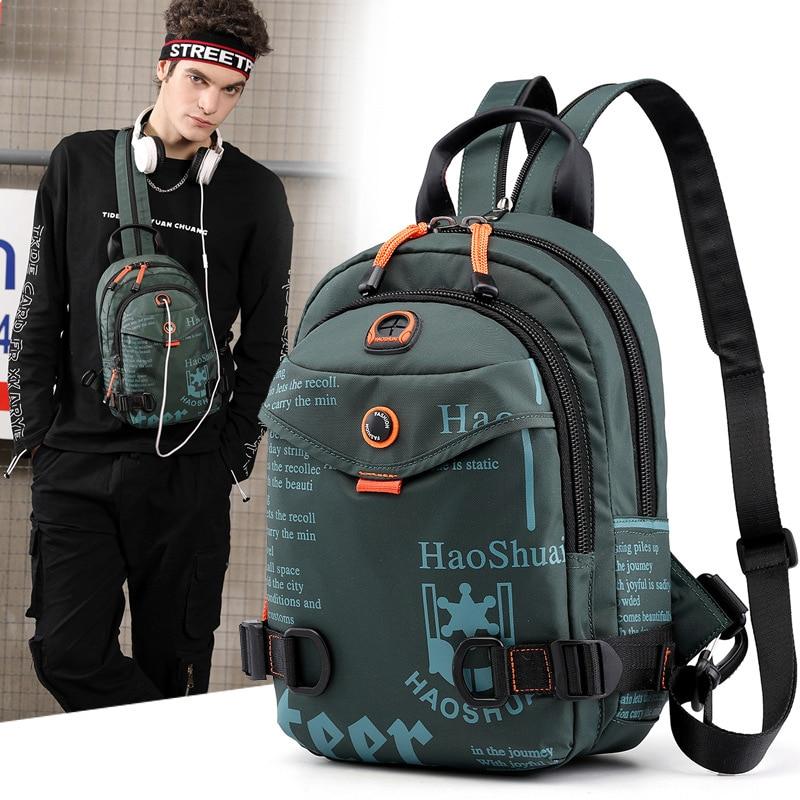 High Quality Nylon Backpack Daypack One Shoulder Cross Body Bag Travel Climb Military Male  Knapsacks Sling Chest Rucksack Bag
