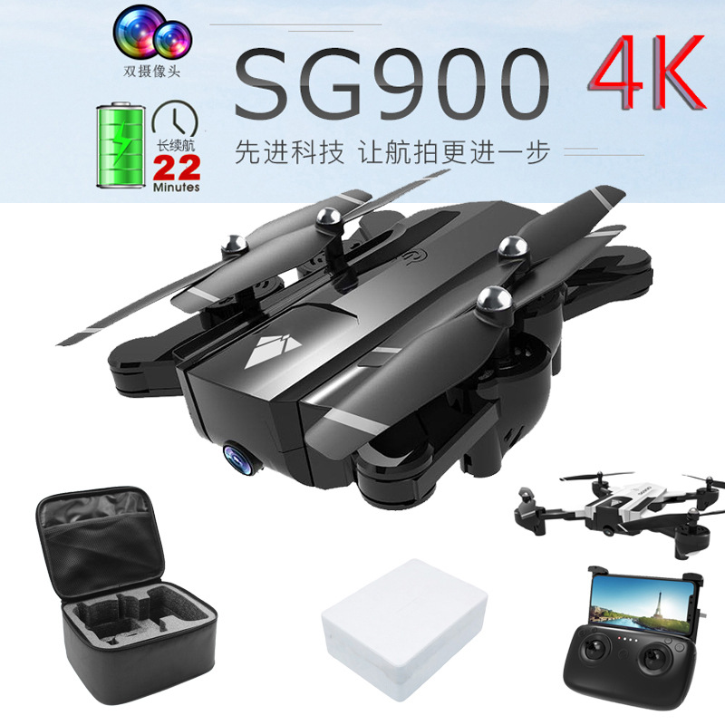 Sg900 Folding Unmanned Aerial Vehicle 4K Aerial Photography Optical Flow Double Camera Ultra-long Life Battery Remote-control Fo