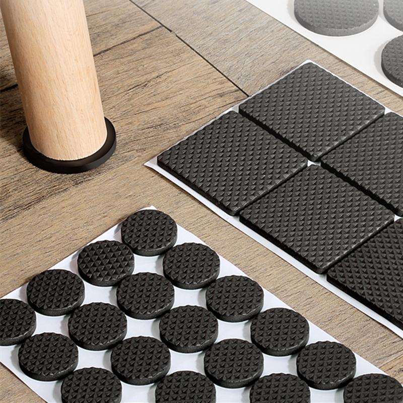 Leg-Rug Chair-Leg-Caps Floor-Protectors Furniture Self-Adhesive Anti-Slip Black