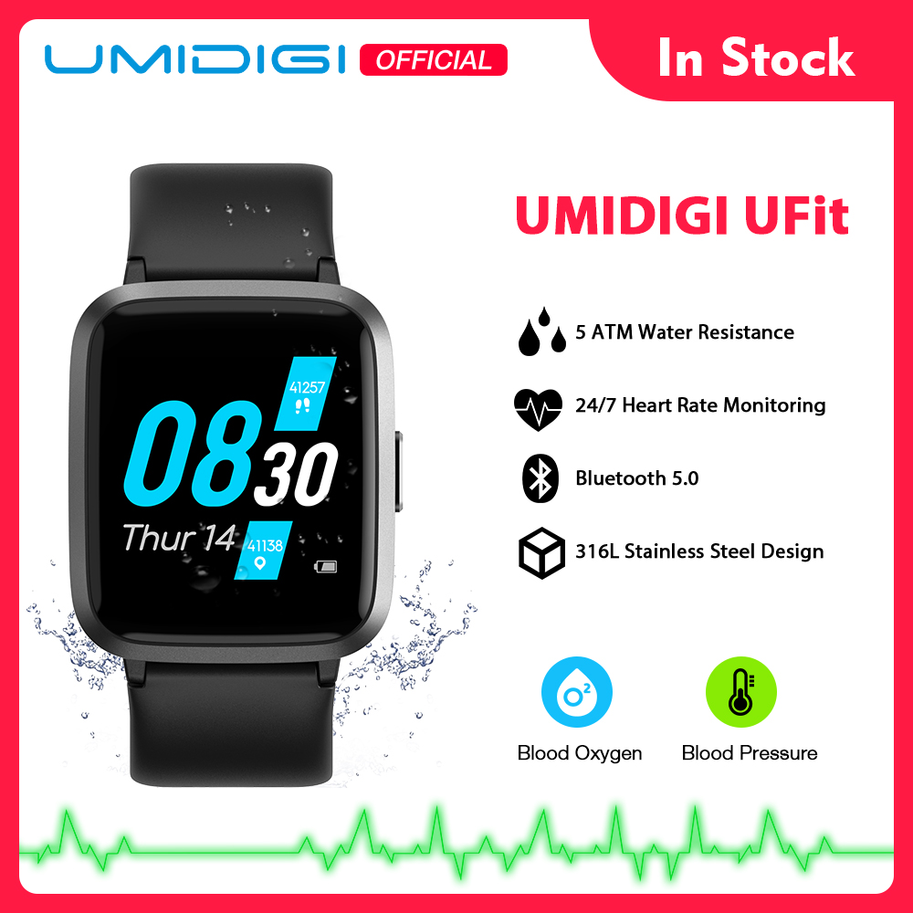 UMIDIGI UFit Health And Fitness Tracker With SpO2 And Heart Rate Monitor Activity Tracker Smartwatch For Android And IOS Phone