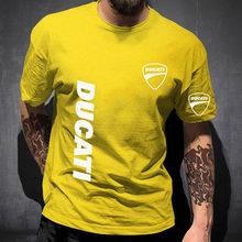 Ducati logotipo 2021 masculina camisa de grandes dimensões confortável cor sólida unisex algodão hip hop moda topos alta rua casual t
