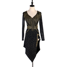 Advanced Latin Competition Dance Skirt Women Long Sleeve Professional Samba Dancing Wear Adult Rumba Dress