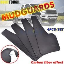 Vorne Hinten 4 stücke Set Universal Schlamm Flaps Splash Guards Kotflügel Carbon Faser wirkung Schmutzfänger Auto Auto Van SUV Pickup zubehör