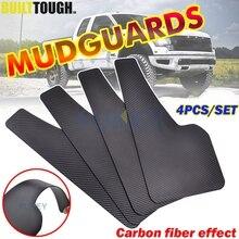 Guardabarros delanteros y traseros universales, 4 unidades, guardabarros con efecto de fibra de carbono, accesorios para camioneta, coche, furgoneta, SUV