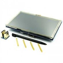 ! Module LCD Pi TFT 5 pouces écran tactile résistif module de protection LCD interface HDMI pour framboise Pi A +/B +/2B