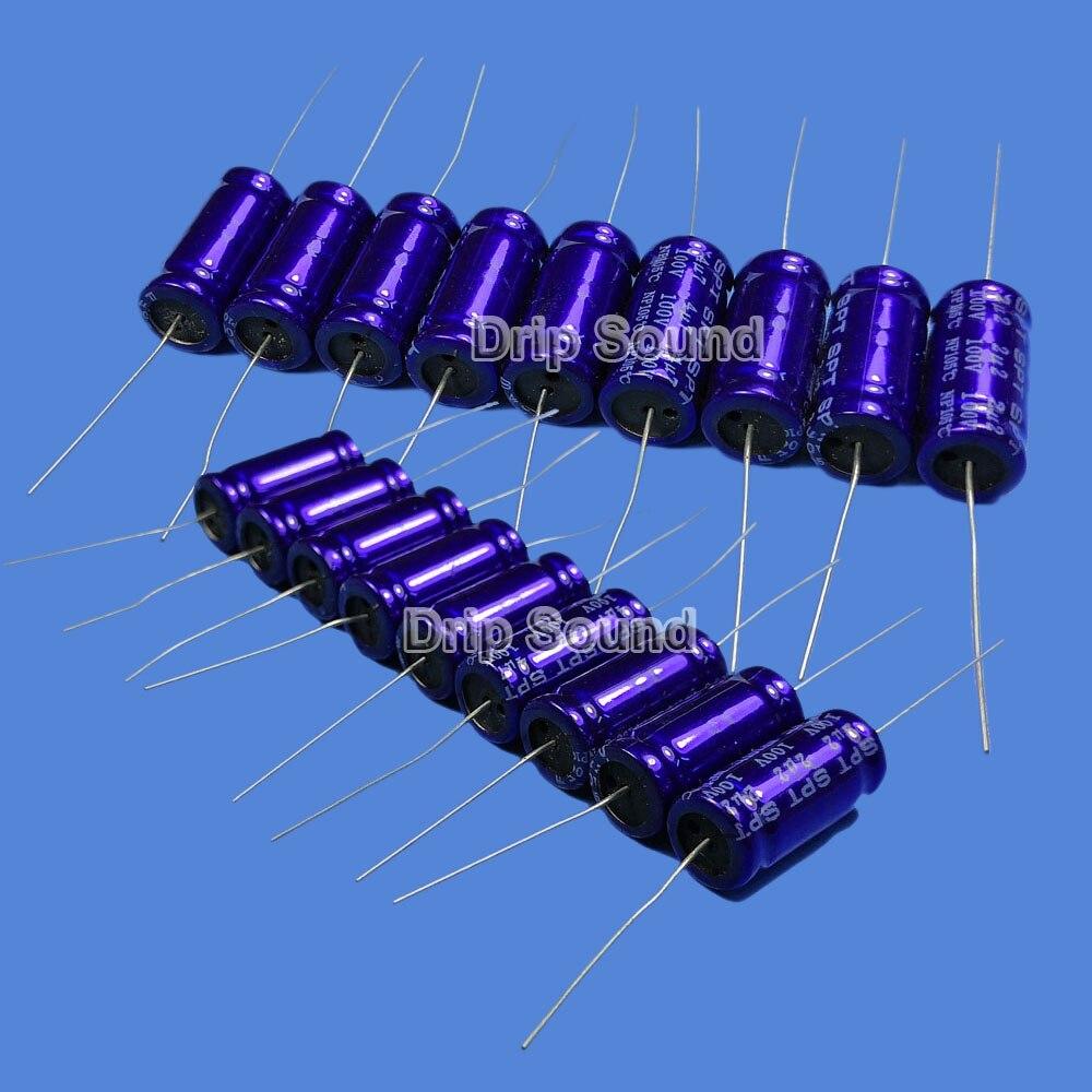 2pcs 1.5uF-33uF 100V Car Tweeter MKP Speaker Frequency Divider Crossover Polypropylene Non-Polarity Capacitor