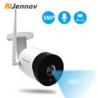 Jennov 5MP Outdoor Panoramic Fisheye Camera Surveillance WIFI Wireless Camera High-definition Infrared Night Vision Camhi APP