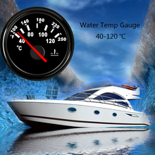 Gauge-Meter Adapter Boat Water-Temp-Gauge Racing-Car Digital Auto 52MM 12V 2inch 40-120
