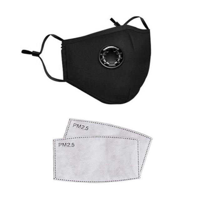 Hot Safe Breathable Protective Anti Pollution Dust Masks With Breath Valve Mouth Activated Carbon Mask With Filter Respirator 2