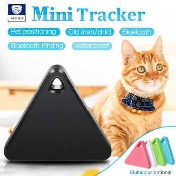 цена на Pet Smart Mini GPS Tracker Pet Locator Anti-lost Waterproof Bluetooth Tracker Triangular Kids Dog Cat Tracker Multiple Colors