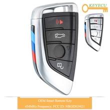KEYECU OEM Smart Remote Control Car Key for BMW X5 X6 2014 2015 2016 2017 2018 2019, Fob 4 Buttons   434MHz   FCC ID: NBGIDGNG1