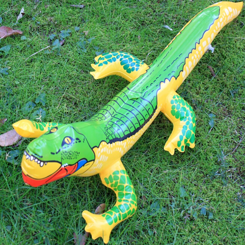 Inflatable Crocodile Blow Up Funny Water Toys Crocodile Toy Alligator Balloon for Summer Beach Swimming Pool Inflatable Toys