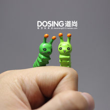 Mini Version the Small Little Bugs Caterpillar Cartoon Cute Plastic Model Action Figures Toys for Children Kids Doll Home Decor(China)