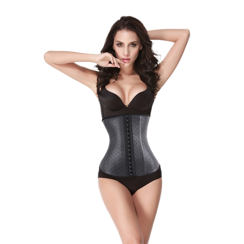 Breathable Medical Treatment Black Waist Training Cincher Corset Slimmers