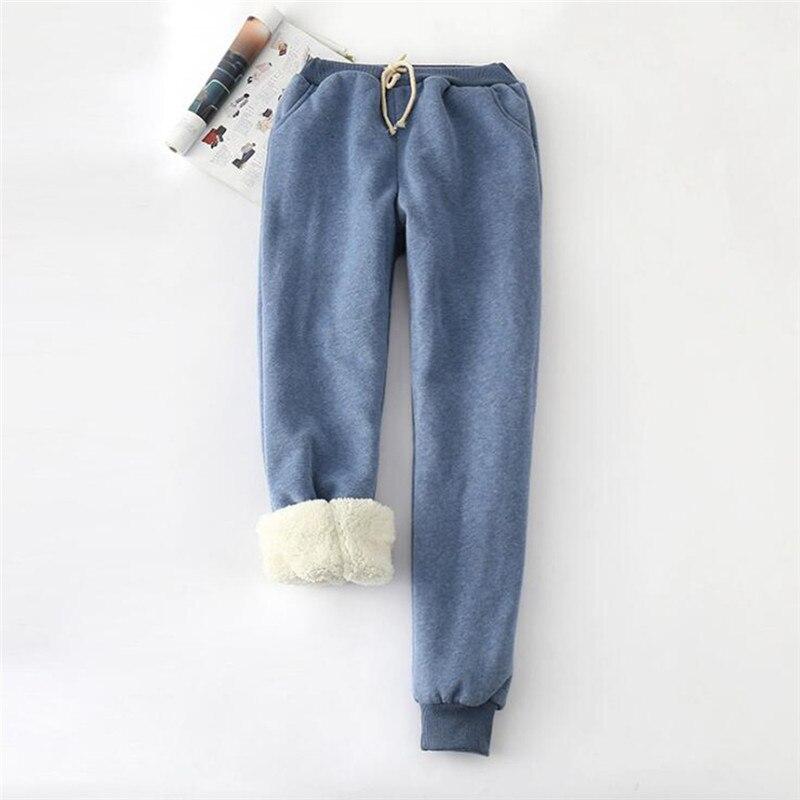 Корейский стиль; Новинка; зимние бархатные штаны с подкладкой из овечьей шерсти; штаны-шаровары в британском стиле; женские большие