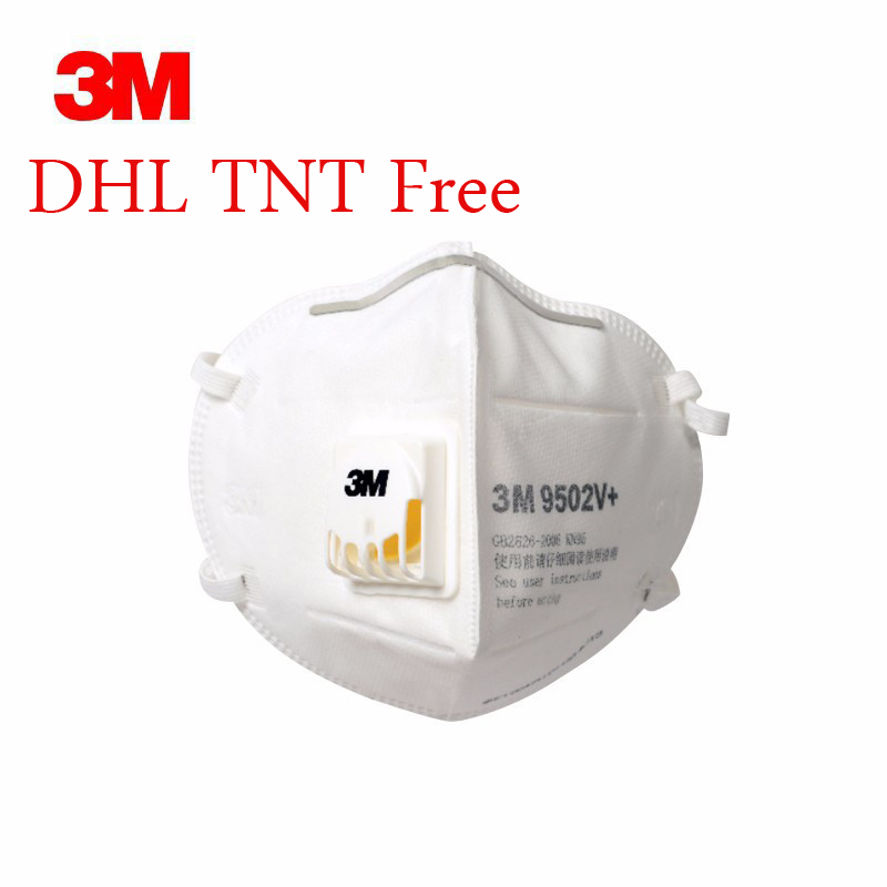 Free DHL Face Mask FFP3 N95 9502v+ Face Mask Mouth Protective Mascherine PM2.5 Protective Mask Reusable Valve Masque