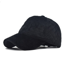New corduroy with velvet baseball cap, popular fashion 100 sets of cold-proof duck tongue sunshade fathers cap adjust