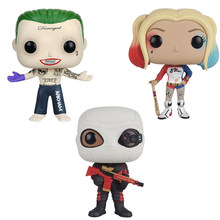 Movie super heroes Suicide Squad action figures 10cm DC Harley Joker Quinn Deadshot model toys doll collection FOR GIFTS(China)