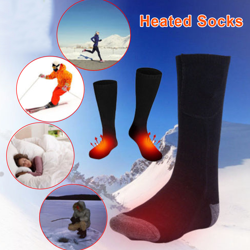 Rechargeable Electric Heating Warm Socks Adjustable Temperature Lithium Battery Infrared Sport Socks For Unisex Foot Warmer