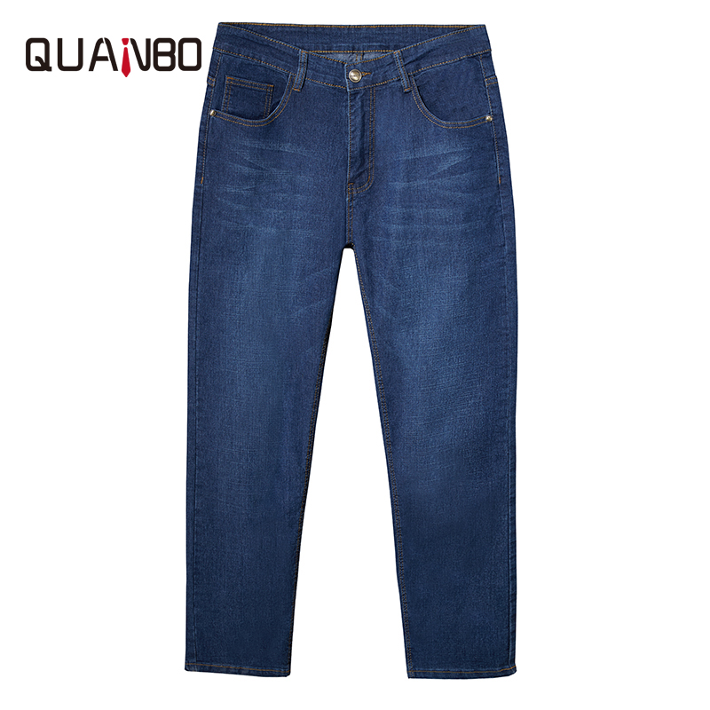 Plus Size Men's Clothes Wide Leg Loose Casual Elasticity Jeans  2020 Summer Men Plus Fat Thin Fashion Hip Hop Denim  Trousers