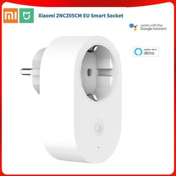 Xiaomi Mijia Smart Socket EU Plug Wireless Smart Plug Time Switch Remote Control Works with Alexa/Google assistant