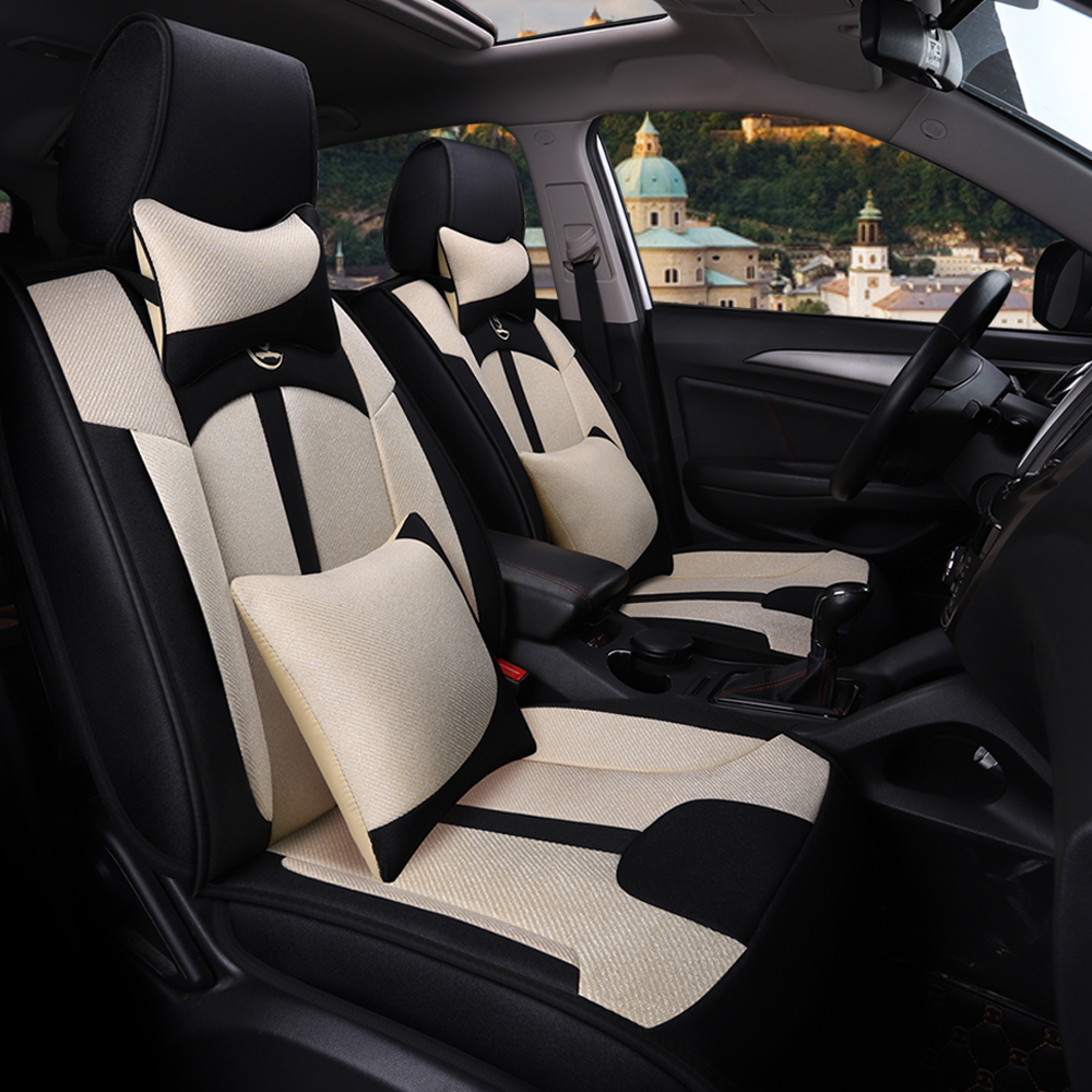 Universal flax fiber car seat cover for Chery a1 arrizo chery a3 e3 fulwin2 a13 j2 indis tiggo 2 3 tiggo5